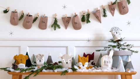 calendrier-avent-fabelab-animaux-bois-poches-tissu