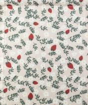 Motif-fraises-fleurs-fraisiers