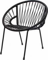 Chaise-d-enfant-en-scoubidou-noir