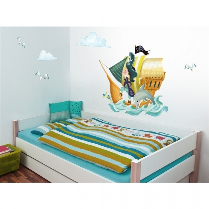 sticker bateau pirates acte deco. Black Bedroom Furniture Sets. Home Design Ideas