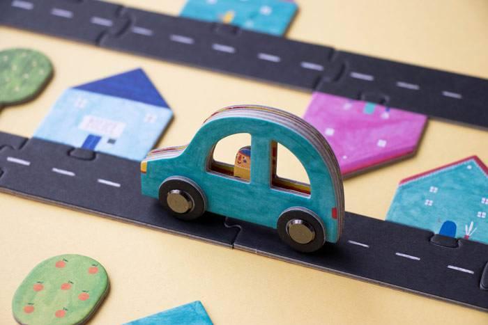 Circuit voiture puzzle - Londji