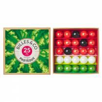 Coffret de 25 billes Pastèque - Billes & Co