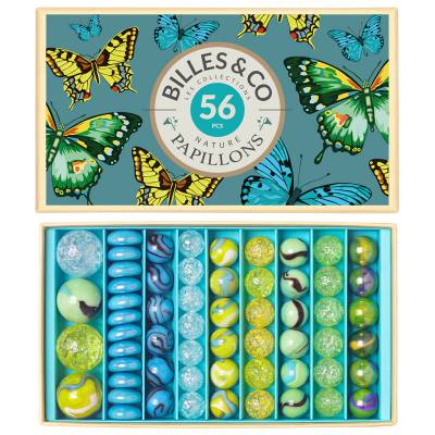 Coffret de 52 billes Papillons - Billes & Co
