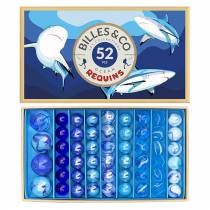 Coffret de 52 billes Requins - Billes & Co