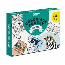 Coloriage Pocket - Mini Atlas - Omy