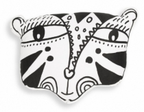 Weegallery-coussin-tigre-noir-blanc