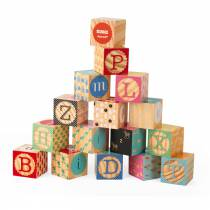 Cubes alphabet gravés - Janod