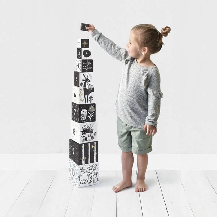 Cubes Compter et Empiler Forêt - set de 10