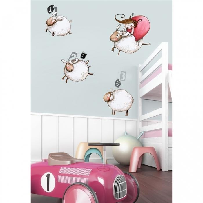 sticker saute mouton acte deco. Black Bedroom Furniture Sets. Home Design Ideas
