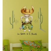 deco-cowboy-chambre-enfant-idée-avec-stickers