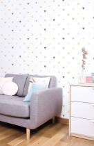 papier-peint-motif-triangles-pour-le-salon
