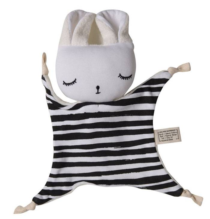 doudou-lapin-weegallery-rayures-noires-et-blanches
