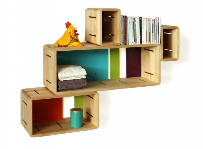 Etag re murale modulable galapagos for Etagere chambre d enfant