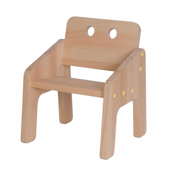fauteuil-bebe-jeune-enfant-bois-vis-jaune