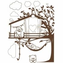 Sticker-geant-cabane-ourson