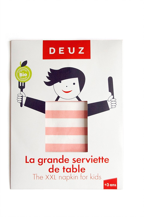 Deuz-grande-serviette-table-rose