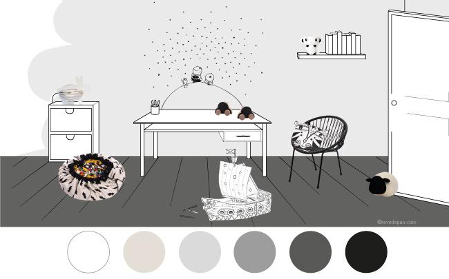 planche-tendance-chambre-enfant-black-and-white