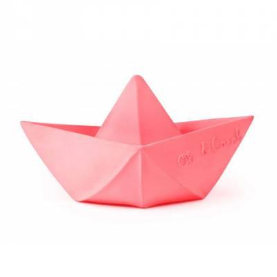 oli-and-carol-bateau-origami-jouet-bain-rose