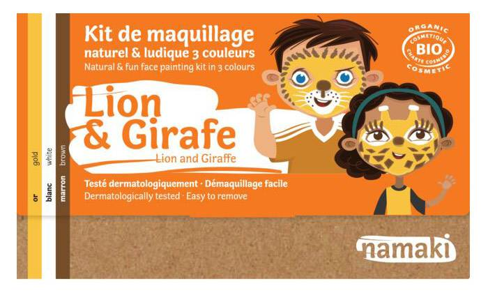 Kit maquillage bio 3 couleurs - Ours et Girafe