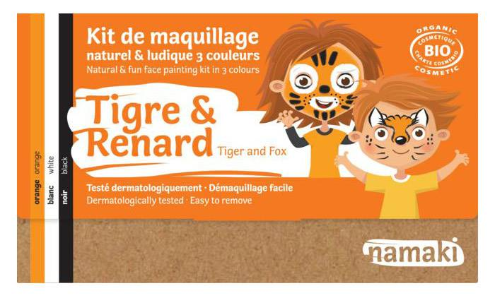 Kit maquillage bio 3 couleurs - Tigre et Renard