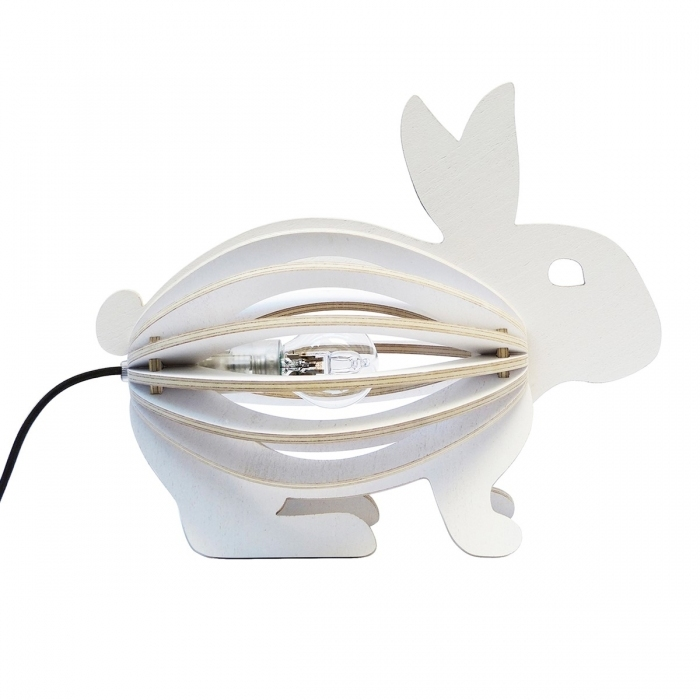 Lampe design lapin blanc for Lampe de chevet lapin