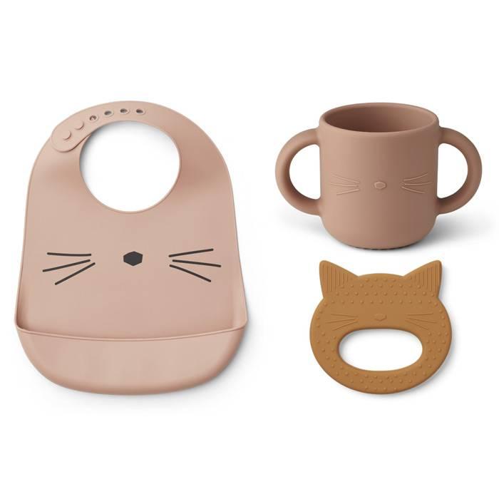 ensemble-accessoires-repas-chat-rose-liewood
