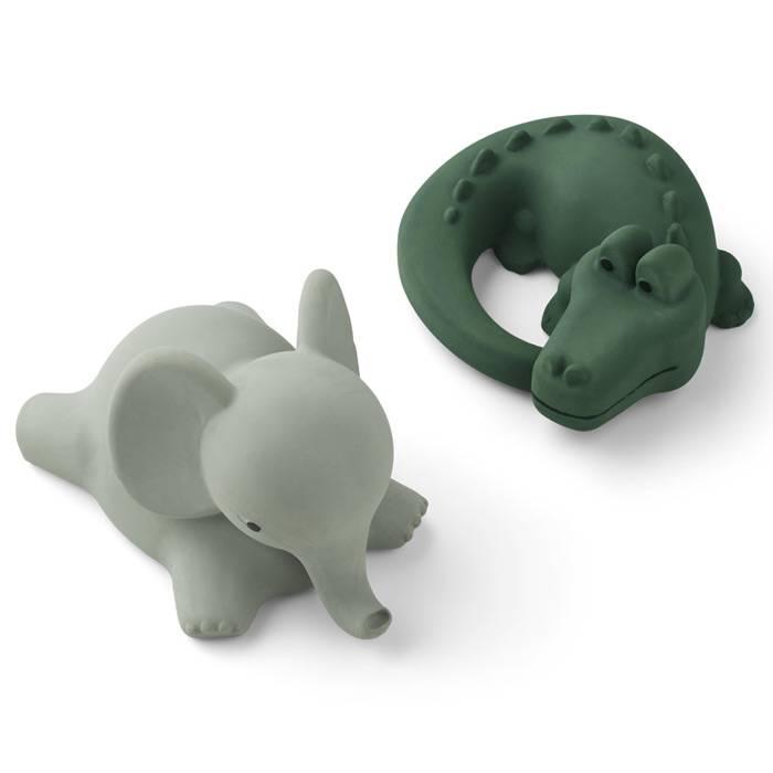 elephant-gris-crocodile-vert-safari-jouets-pour-le-bain