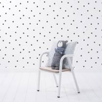 papier-peint-moderne-pois-noirs-fond-blanc