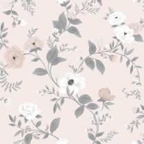 papier-peint-floral-roses-sur-fond-rose
