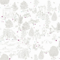 motif-foret-illustration-linge-de-lit