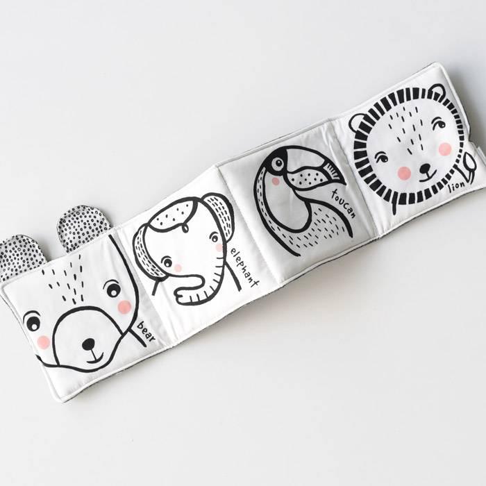 Livre-tissu-bebe-animaux-sauvages