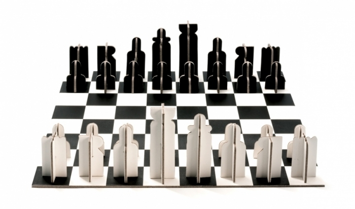 jeu d 39 chec original en carton recycl. Black Bedroom Furniture Sets. Home Design Ideas