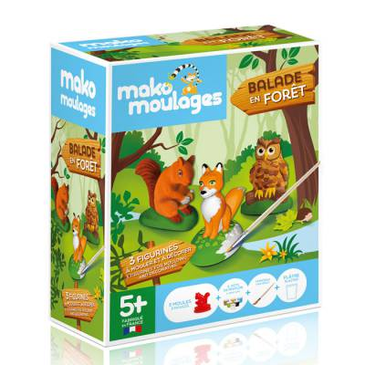 Mako moulages - 3 figurines - Balade en forêt