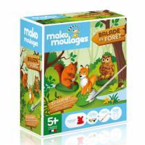 Mako moulages - 3 figurines - Balade en forêt