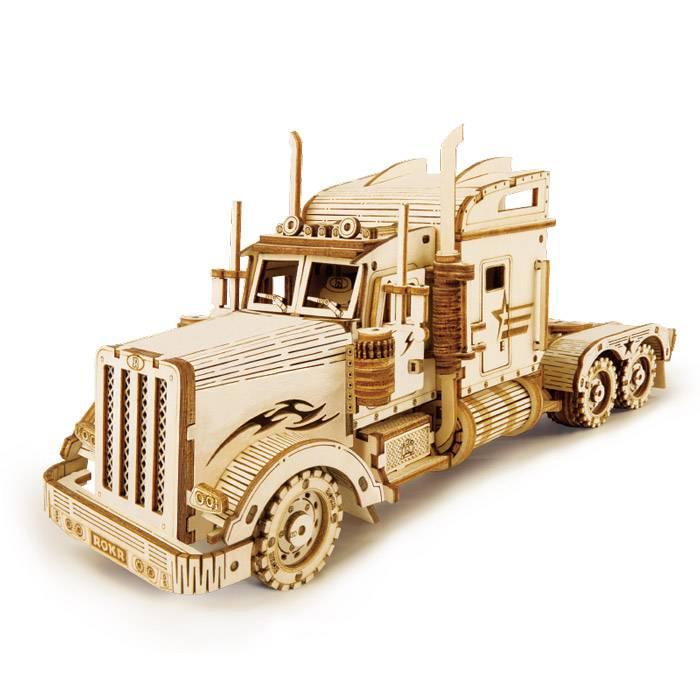 marquette-bois-3d-camion-robotime