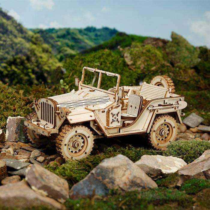 vehicule-armee-robotime-maquette bois