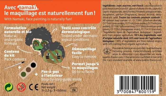 Deguisement-bio-maquillage-dinosaure-camouflage