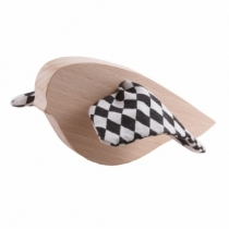 oiseau-jouet-bois-tissu-noir-et-blanc