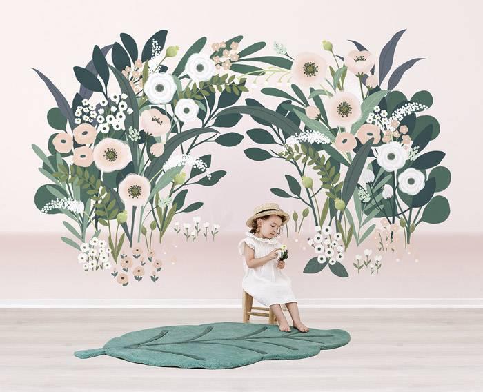 arche-fleurie-fond-clair-lilipinso-papier-peint