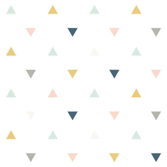 papier-peint-motif-triangle-chambre-enfant