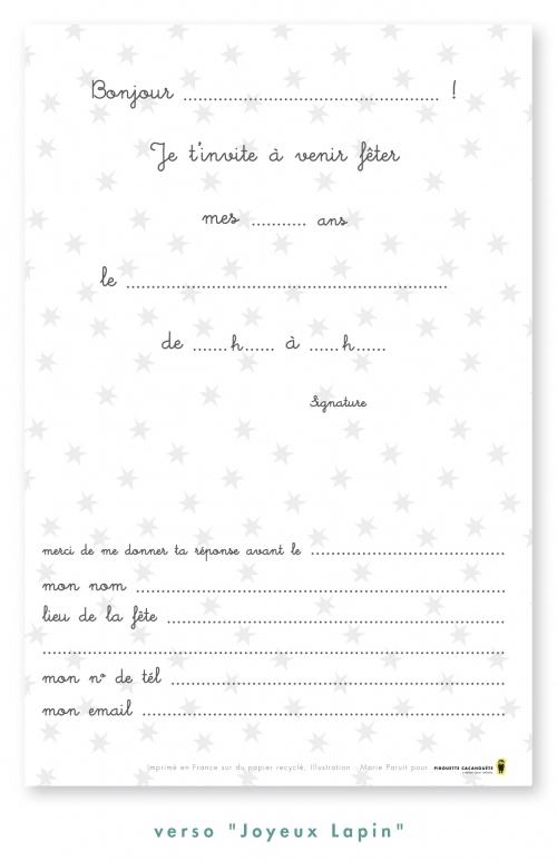 Cartes D Invitation Souris Lot De 8