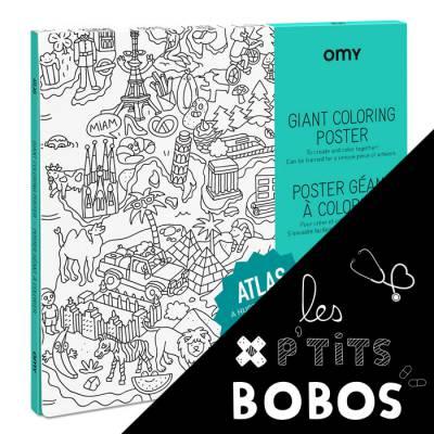 Poster à colorier - Atlas - P\'tit bobo