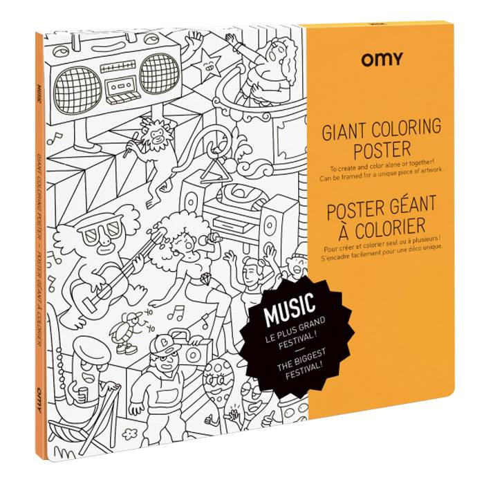 Poster à colorier - Music - Omy