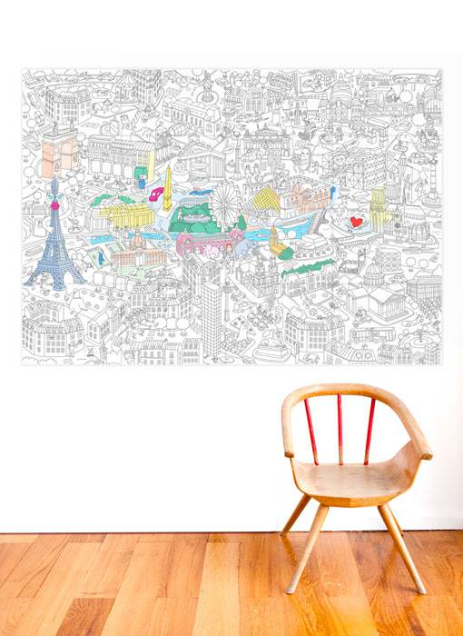 coloriage-poster-decoratif-paris