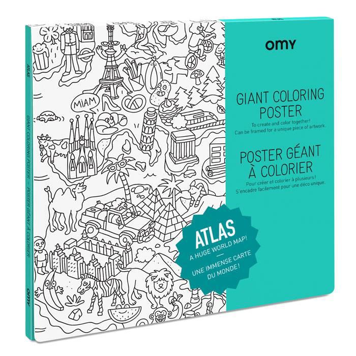Poster à colorier - Atlas