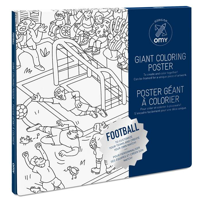 Coloriage Equipe De France Football 2018.Poster A Colorier Football
