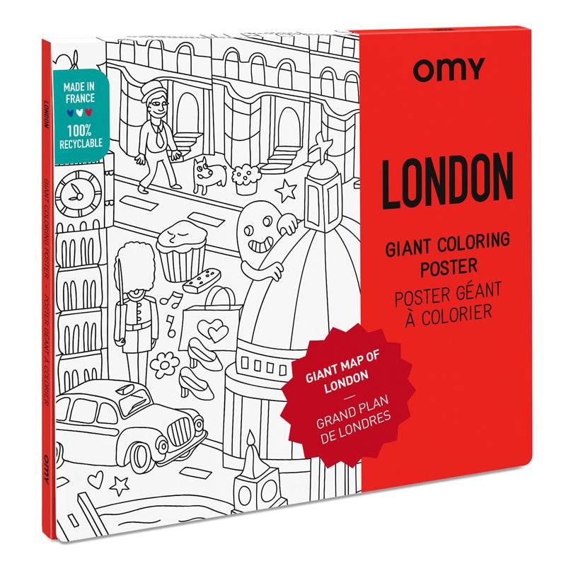 Poster A Colorier Plan De Londres