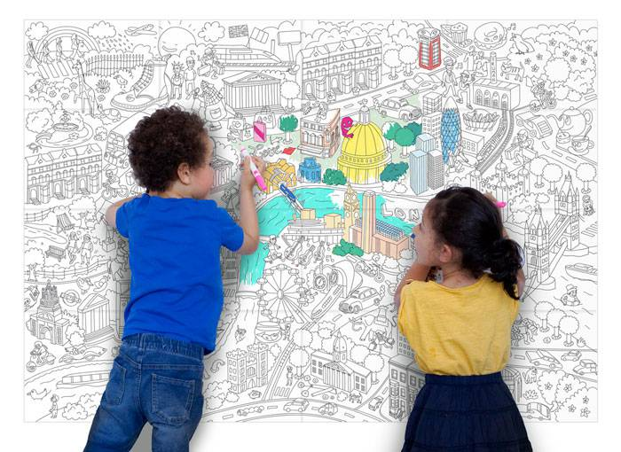 coloriage-dessin-poster-londres-omy