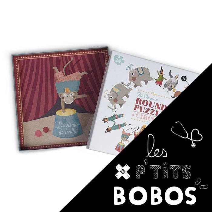 Puzzle my round puzzle circus ptit bobo - Code promo les enfants du design ...