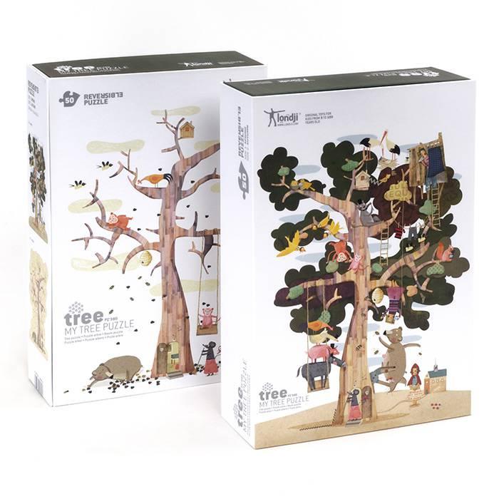 arbre-avec-feuilles-arbre-sans-feuilles -puzzle-londji